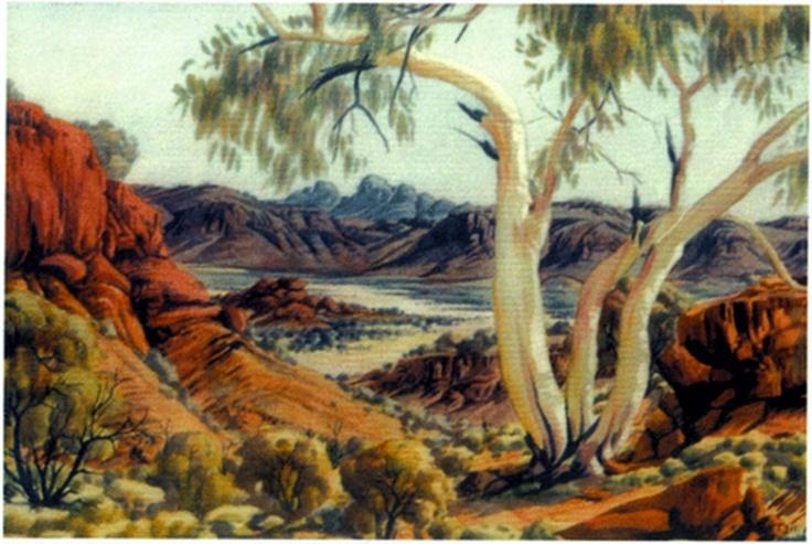 Albert Namatjira -- Australian artist, He is best known for his watercolour Australian outback desert landscapes