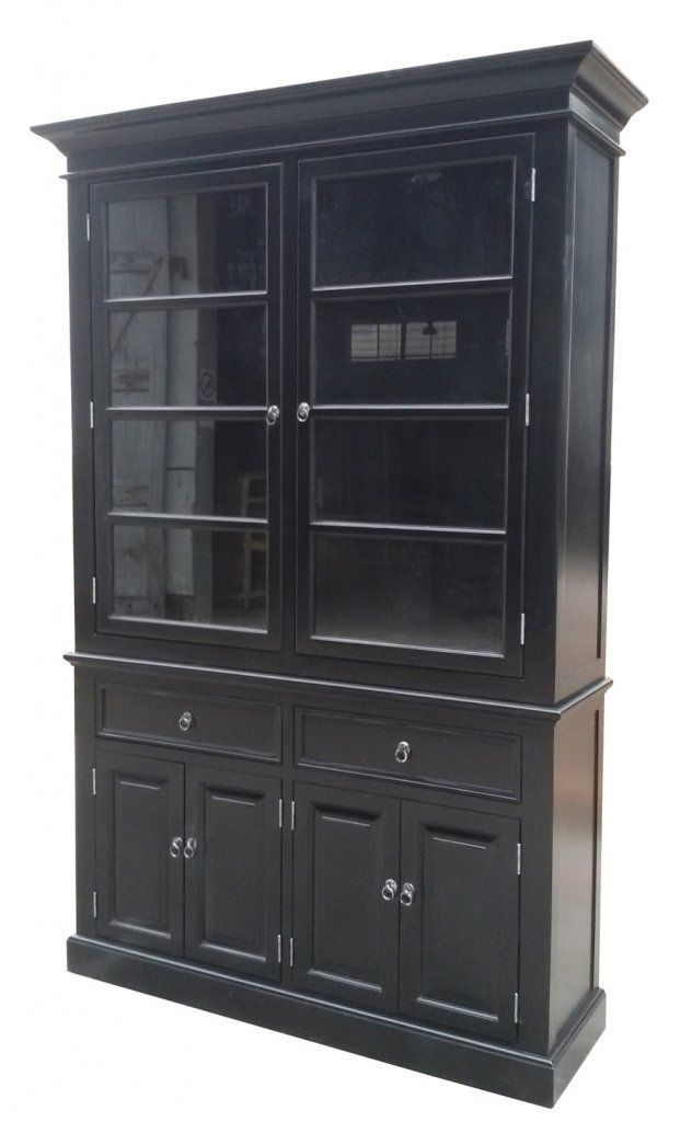 vitrinskåp svart
