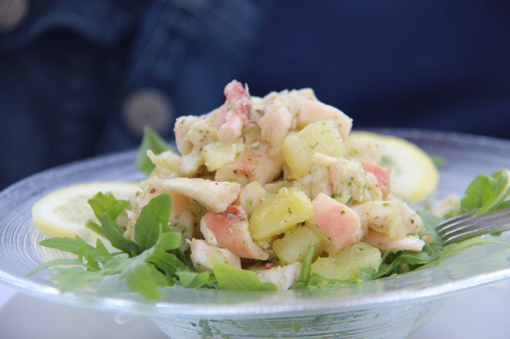 """Lauwwarme salade van """"polpo e patate"""". Sirolo - le Marche"""