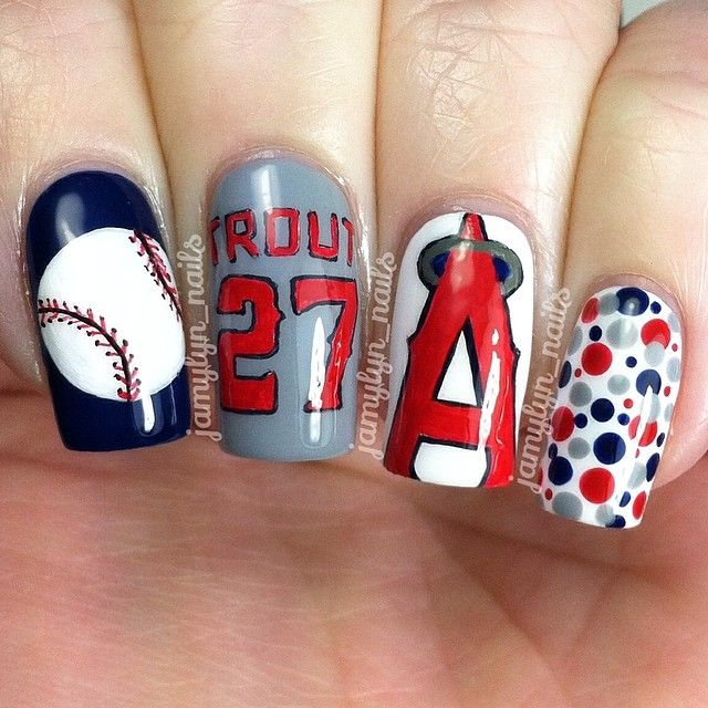Best Nail Art Salons In Los Angeles: Best 25+ Baseball Nail Designs Ideas On Pinterest