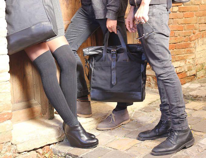 Rollup Laptop Bag Pelle – NERO  | Officine Federali