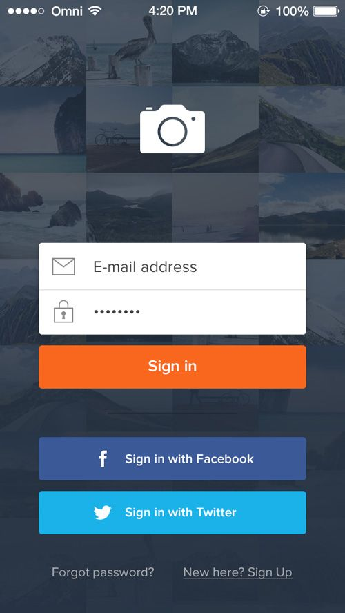 32 Modern App Sign In / Login Screen UI Designs