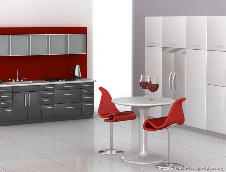 Modern Two Tone Kitchen Cabinets #66 (Kitchen Design Ideas.org) | RED