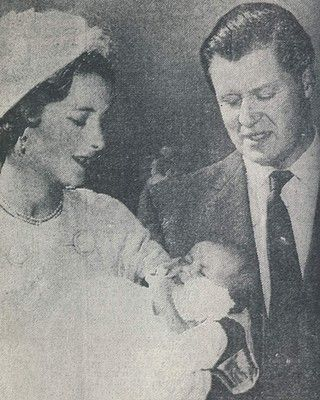 Lady Diana Spencer at her christening,  1961.
