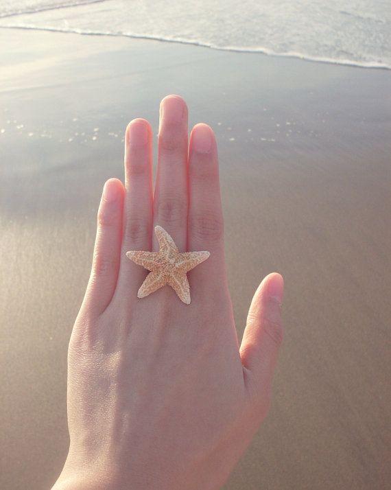 The Mermaid's Starfish Ring II  Natural Sugar by dreamsbythesea, $24.50