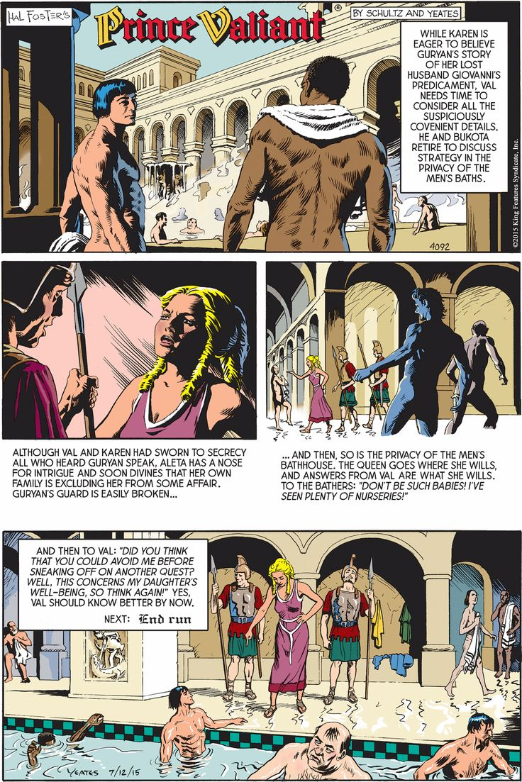 Comic image prince strip valiant understood
