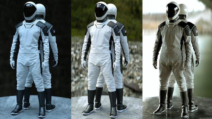 ArtStation - Space X, Wojciech Michalski | Space suit ...