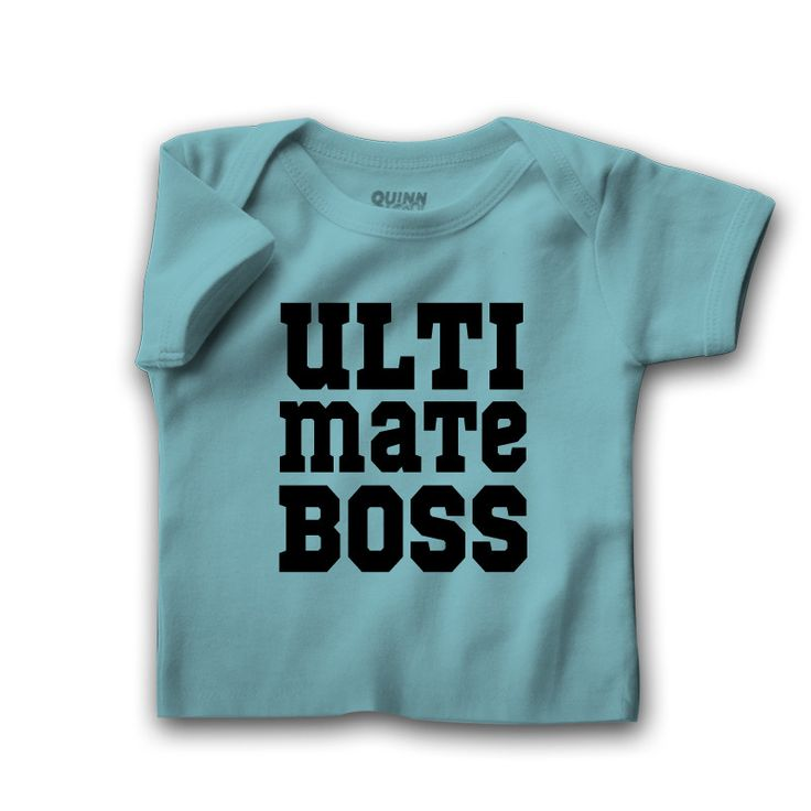 ULTIMATE BOSS - Can be a part of Boss and Real Boss Father and Son T-shirts Set.