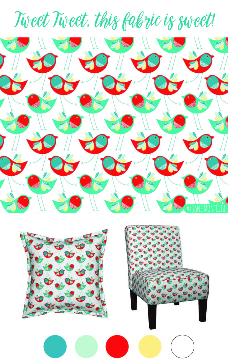 Tweety bird would be jealous. This fabric on spoonflower is the cutest!