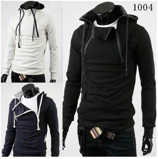 New Black Men Fashion | South Korean Men's Hoodies Jacket ...