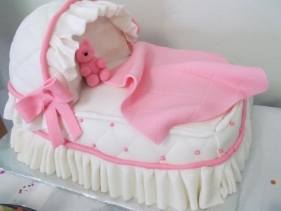 Baby carriage cake By SophiaRose1 on CakeCentral.com