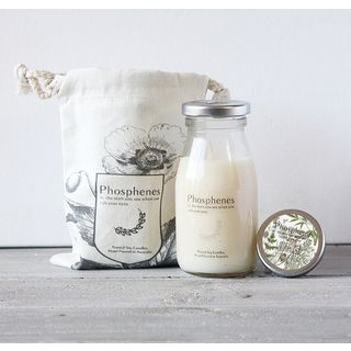 Milk Bottle Hand Poured Candle - Wildflower honey