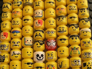 lego faces - just so it's easier to know what to draw on the lego party favors I pinned.
