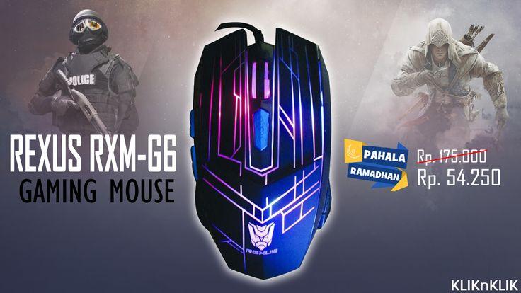 REXUS RXM-G6, Professional Gaming Mouse, harga termurah.  Ayo serbu.. http://j.mp/PahalaRamadhan