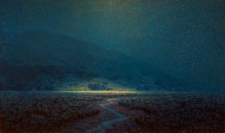Гранвиль Редмонд, лунный мартовский пейзаж