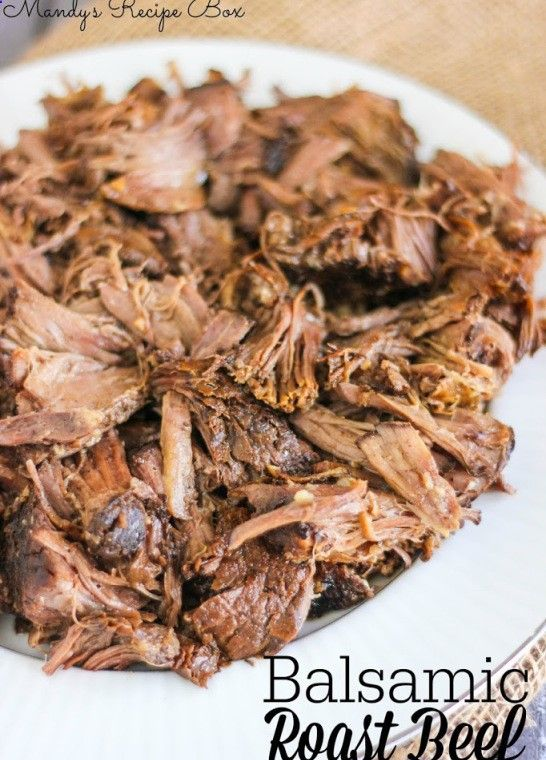 Crock Pot Balsamic Roast Beef | Cook this on low overnight and you wont believe how tender it is. Leave out the Worcestershire, and sub tamari for the soy sauce for Phase 2 (use rump roast), Phase 3, and H-Burn.