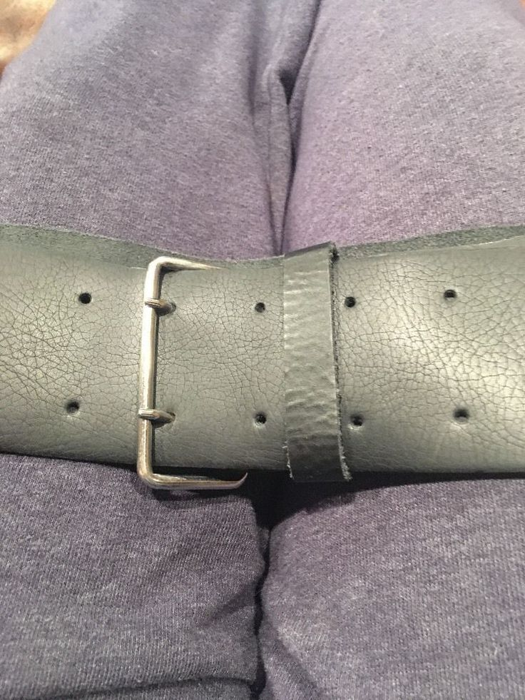 Divided H & M Kvinnor Svart Läder Double Hole Wide Belt L | eBay