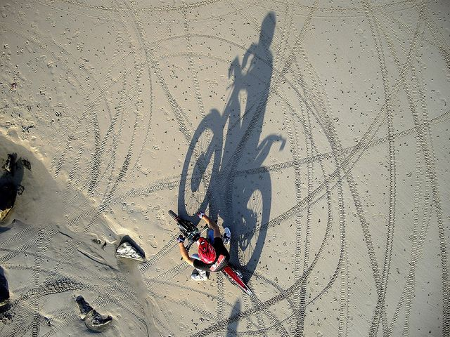 KAP Trial Bikes @ Portinfer by Ningaloo :-), via Flickr -Kite Aerial Photography Images