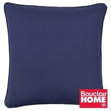 Bouclair Kabina Square Solid Cushion Navy 45 x 45 cm
