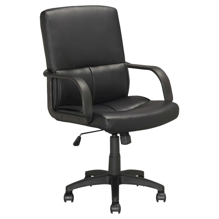 Workspace Executive Office Chair Leatherette Black - CorLiving
