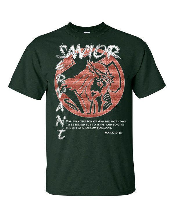 Savior/Servant - Mark 10:45 Short sleeve t-shirt