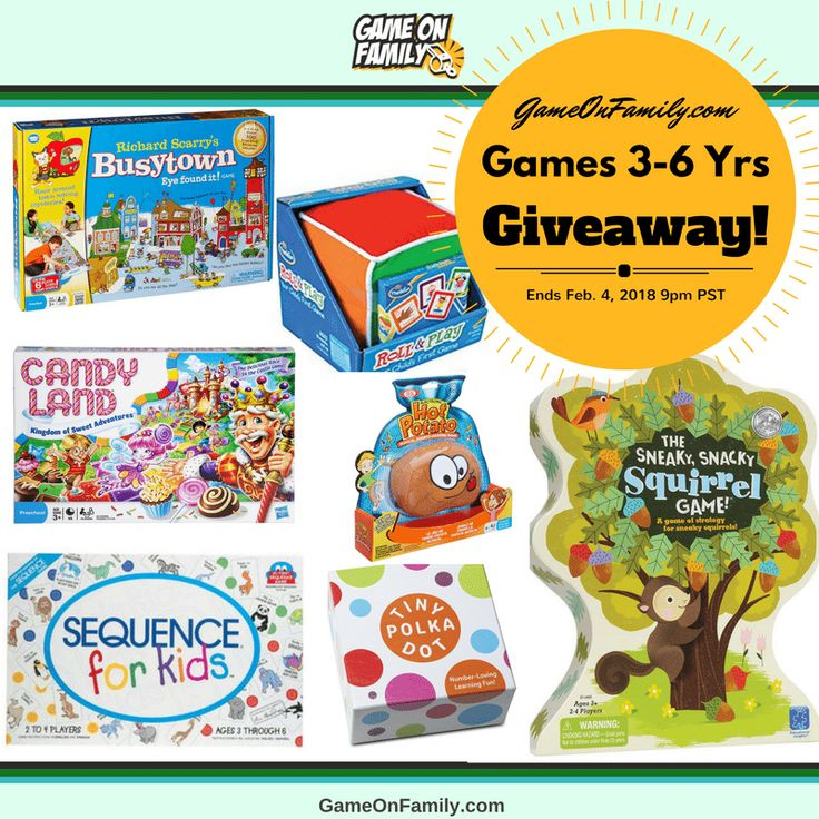 Games for 3-6 Yrs Giveaway: Win 7 Children's Games! #kids http://gameonfamily.com/giveaways/kids/?lucky=2678 via @GameOnFamilyCom