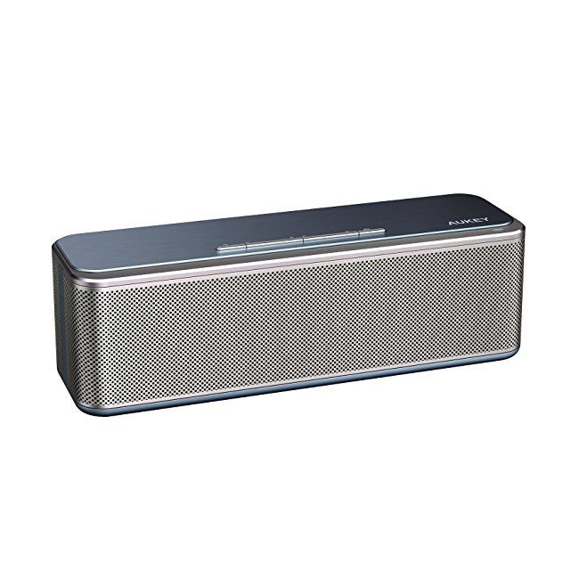 AUKEY Bluetooth Speaker CSR 4.0 with DSP Chip 16W Dual Drivers and Passive Radiators Enhanced Bass Built-in 4000mAh Battery Metal Wireless Speaker for Echo Dot iPhone iPad Samsung Android etc #amazon #electronics