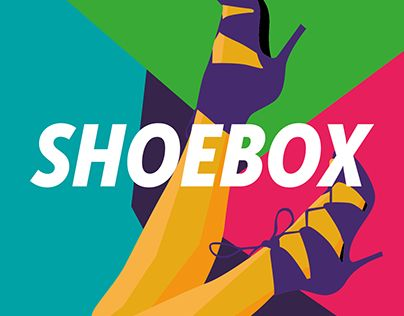 SHOEBOX is a fashion store specialised in Women shoes and acessories in the south of Brazil. The brand comes from the ideia of a shop made of containers, decorated on the outside with spray paint. The geometric legs and the vivid colors brings a modern s…