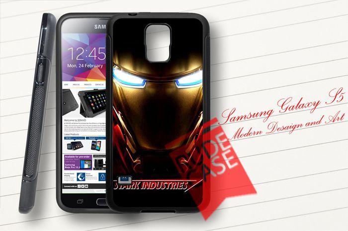 Samsung Galaxy S5 Custom STARK INDUSTRIES Iron Man Avengers Fans Rubber Case
