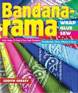 Give the crafty kid in your life the gift of style! Bandana-rama―Wrap, Glue, Sew makes it easy for kids of all experience levels to complete all 21 projects featured in the book. From headbands, belts, and hoodies, to pillows and a guitar strap, all the projects can be achieved by hand sewing, machine sewing, or in some cases, by simply using scissors and glue. #crafting #sewing #projects #books #sale #shopthelink #b2b #wholesale
