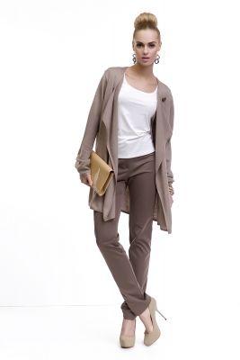 Elegantný dámsky hnedý sveter značky LADY M. www.avous.sk/novinky