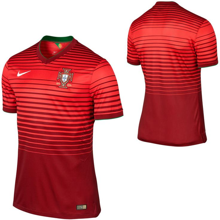 Nike Portugal 2014 World Soccer Home Authentic Jersey - Red