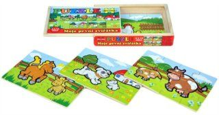 Puzzle pro děti Moje první zvířátka, 4x12 dílků