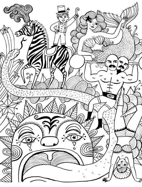 Just Add Color Circus 30 Original Illustrations To Color