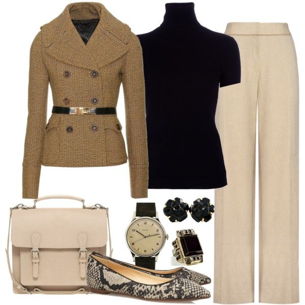 love this....: Clothing Fall, Classic Style, Work Outfits, Work Style, Casual Wear, Accessories, Polyvore Casual, Fall Winter Outfits