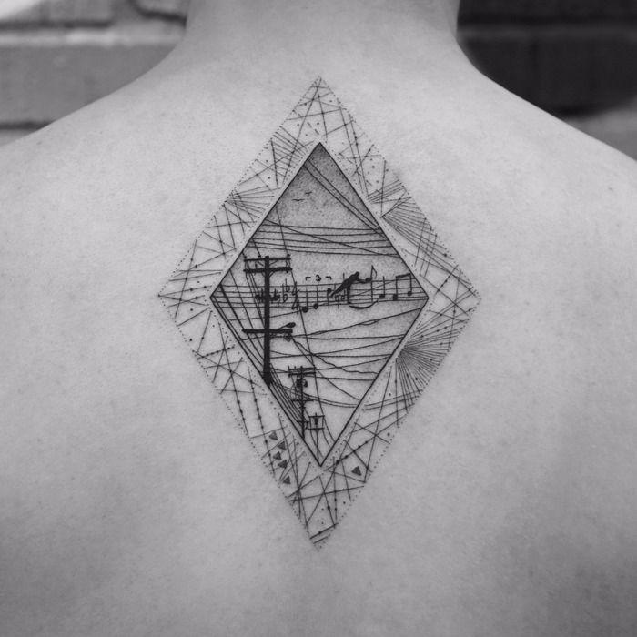 Fine Line Black and Gray Tattoos by Balazs Bercsenyi