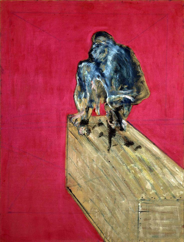 Francis Bacon. Studio per scimpanzè, 1957. Olio e pastello su tela, cm 152,4 x 117. Collezione Peggy Guggenheim, Venezia /Ph. David Heald © The Estate of Francis Bacon / All rights reserved / by SIAE 2016