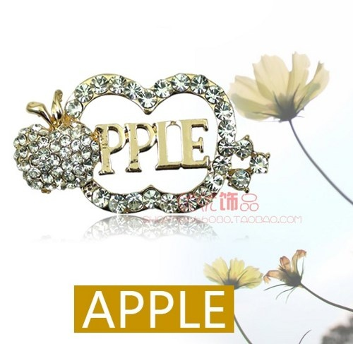 Crystal apple alloy diy bling phone deco etc | chriszcoolstuff - Craft Supplies on ArtFire