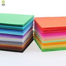 Poliéster sentiu tecido pano artesanal DIY costura Home Decor Material de espessura de 1 mm Mix 40 cores 15 x 15 cm 5.9 x 5.9 polegada N-40S(Hong Kong)