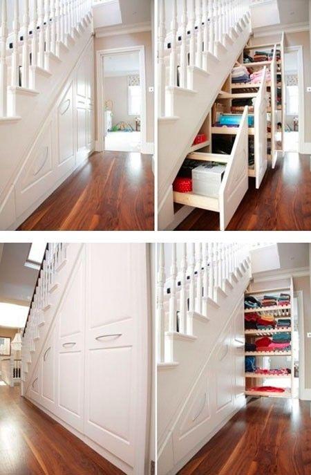 Great under stair storage idea