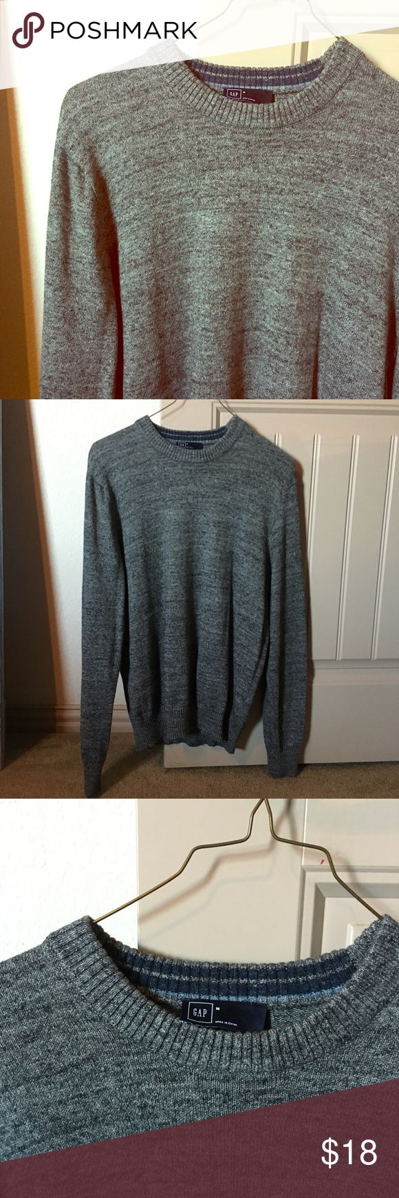 Men's Crewneck Sweater Nice dark heather gray crewneck sweater from Gap. In excellent condition and perfect for layering in the fall/winter! GAP Sweaters Crewneck