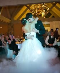 First Dance at Deer Creek C.C. with low lying fog