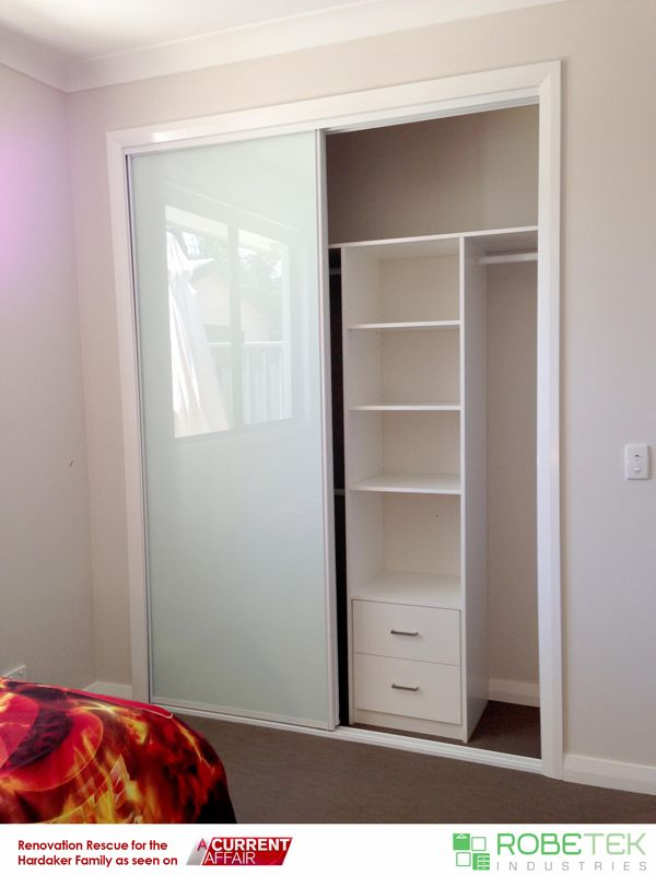 SAM HARDAKER'S NEW BUILT-IN WARDROBE DONATED BY ROBETEK INDUSTRIES. Renovation Rescue for the Hardaker family as seen on A Current Affair. Call 02 9608 8899 for FREE MEASURE & QUOTE (Sydney metro area)