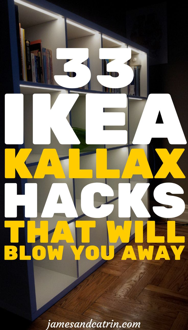 The Kallax is one of Ikea's most versatile pieces of furniture and perfect for hacking. There are so many great ideas for Ikea Kallax hacks here that you will certainly get inspiration. If you are looking for a good Ikea Kallax hack, you've come to the right place. #ikeahack #diyikea #diyhomedecor #ikeakallax #kallaxhack