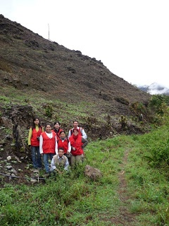 Equipo en trabajo de campo. Seccion de Guapuscal Bajo. Qhapaq Ñan - Colombia: febrero 2010