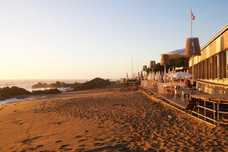 praia da luz sunset restaurant beach porto portugal