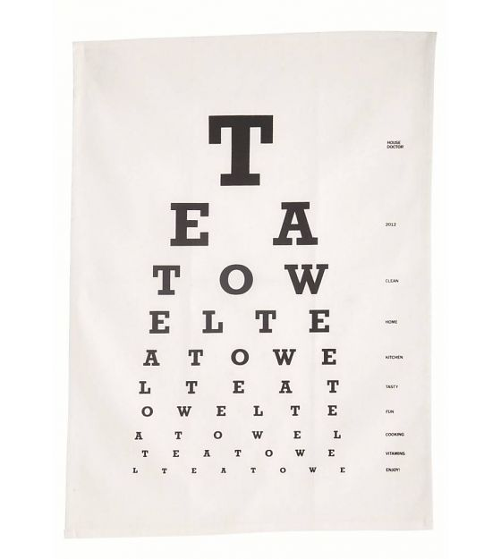 Housedoctor Eye test white tea towel - Wonen met LEF!