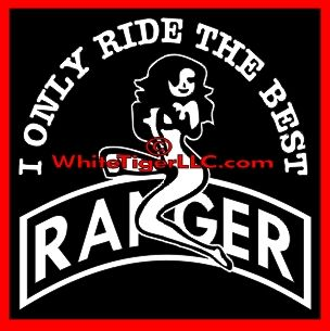 U.S. Army Ranger Tab with Sexy Girl Car Truck Store Window Decal
