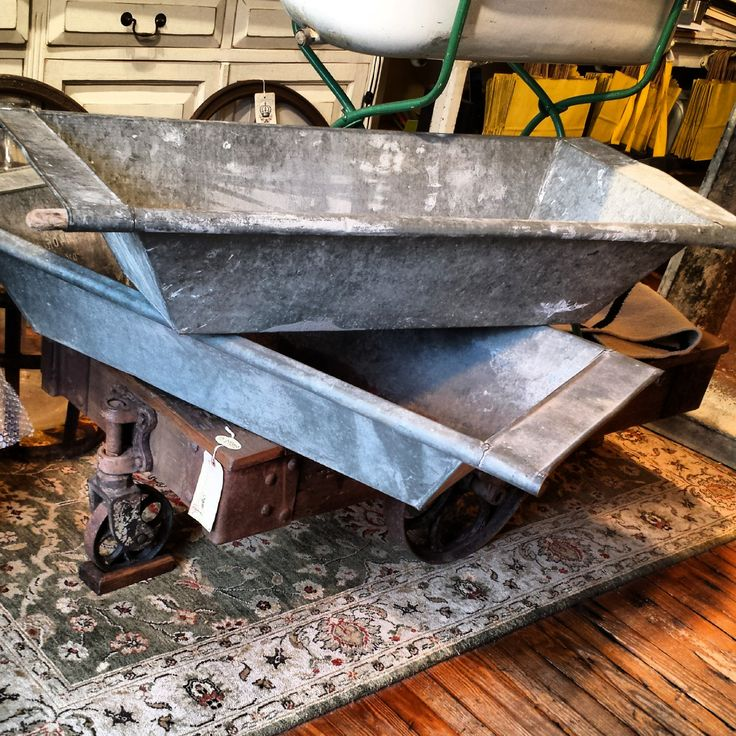 Vintage zinc troughs from Budapest, the perfect party ice bucket or great planter for the garden or home @RHBallardArt #vintage