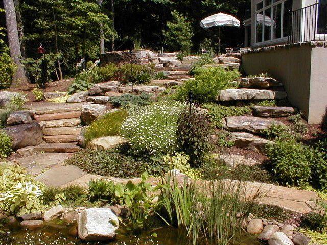 best 25 landscaping a slope ideas on pinterest backyard hill landscaping steep hill. Black Bedroom Furniture Sets. Home Design Ideas